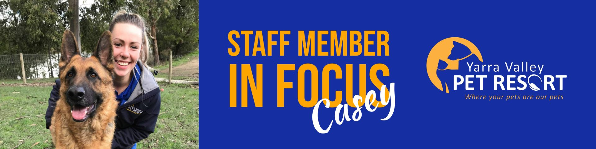 Staff Member In Focus – Casey – Assistant Kennel Manager